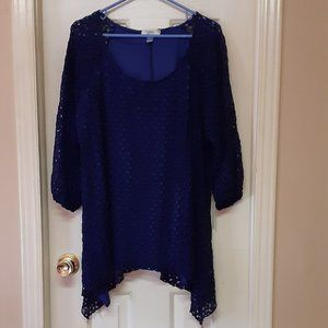 Dress Barn Royal Blue Knit Top